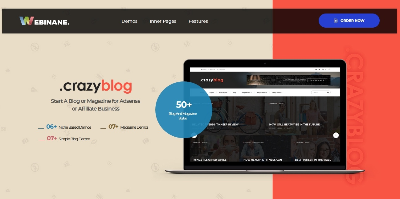 CrazyBlog best premium theme