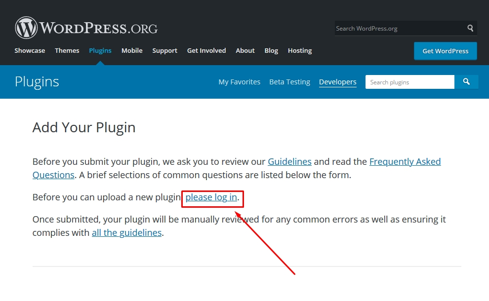 How to submit your plugin