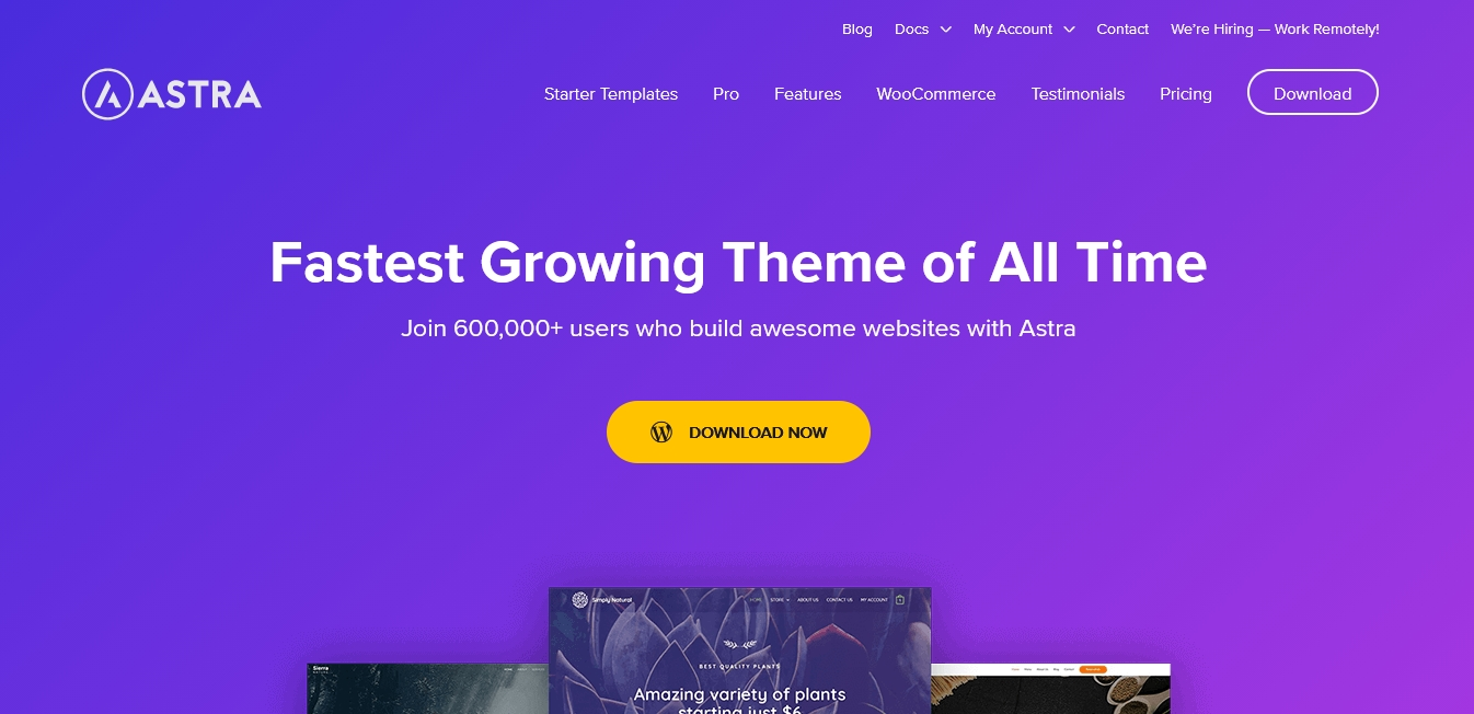 best wordpress free theme astra