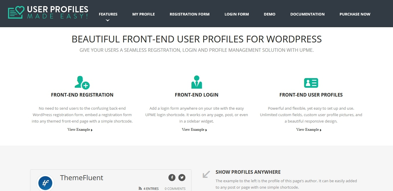 user profile made easy
