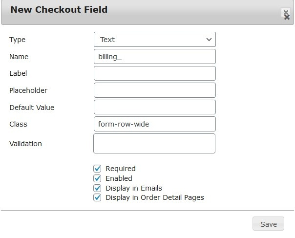 customize checkout page