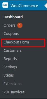 Checkout Form Option