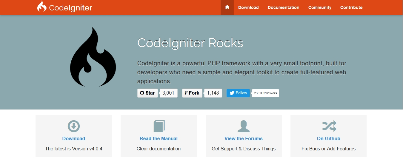 Popular PHP Framework CodeIgniter