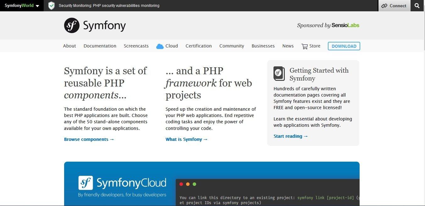 Popular PHP Framework Symfony