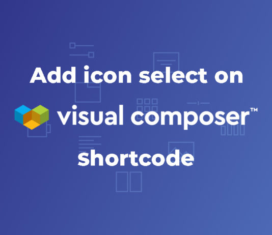 how to add visual composer icon select option